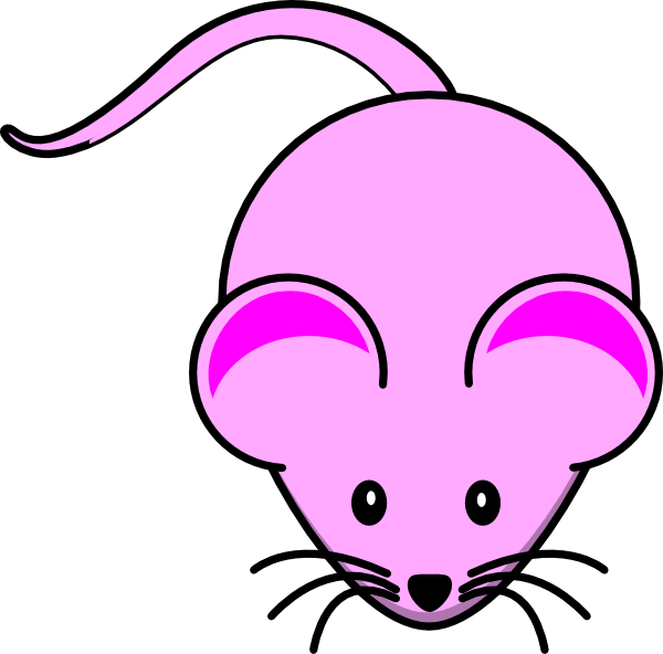 Computer Mouse Clipart pink