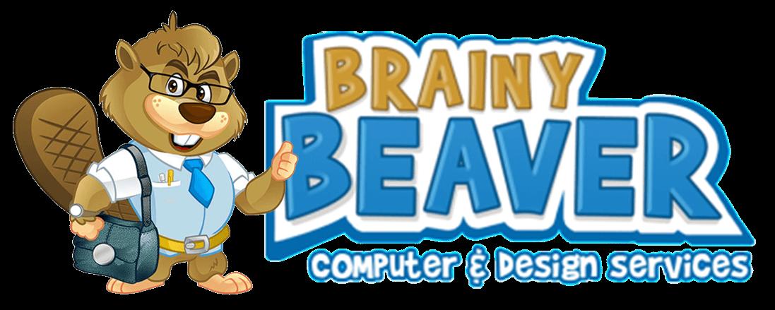 Pc clipart designer. Brainy beaver computer design