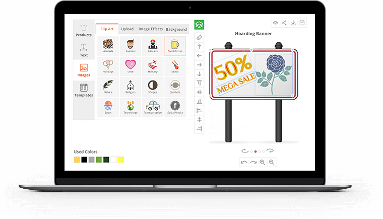 Prestashop product customization tool. Computer clipart designer