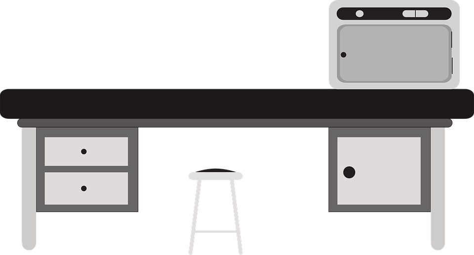 Laboratory table clip art. Clipart desk testing