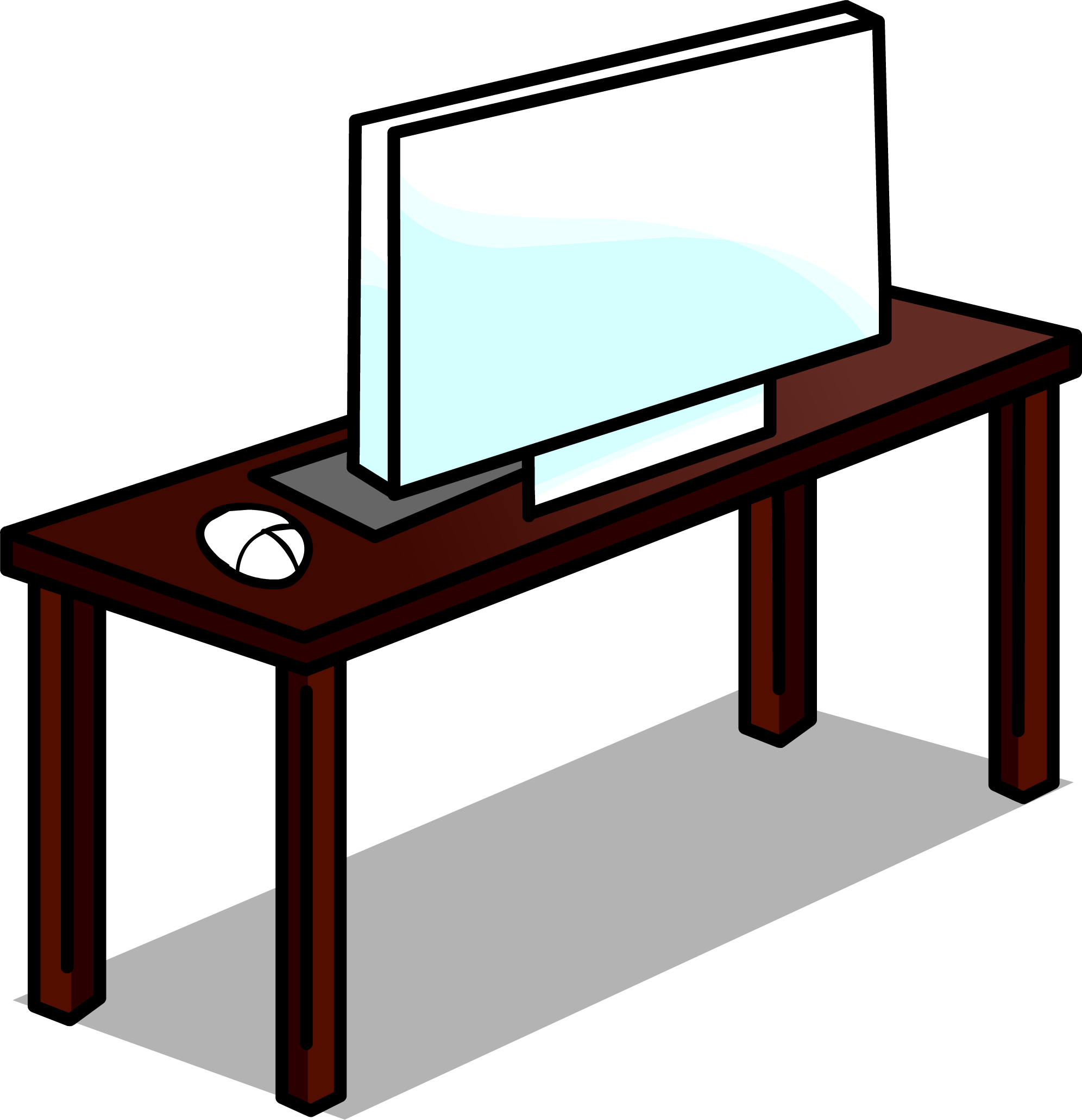 Image desk sprite png. Furniture clipart computer table