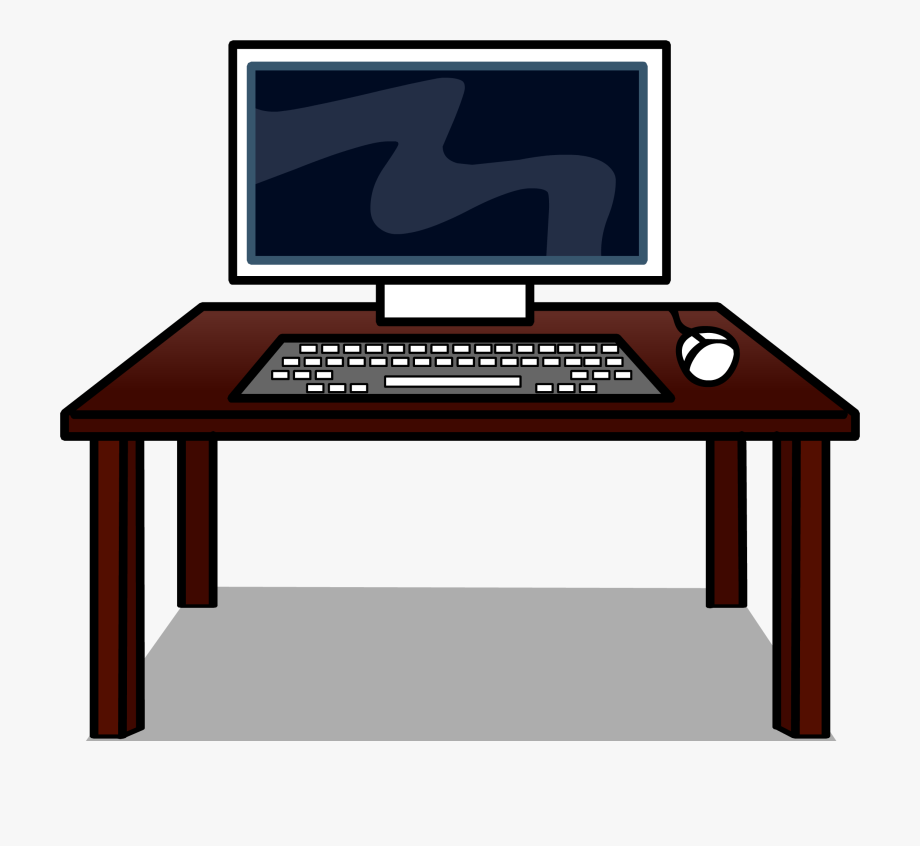 Clip art royalty free. Furniture clipart computer table