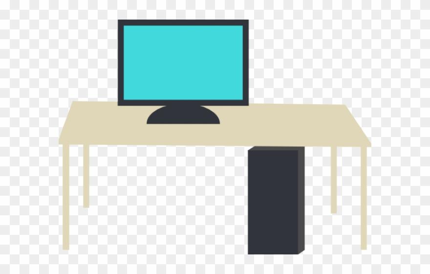 Clip art computer png. Desk clipart small desk