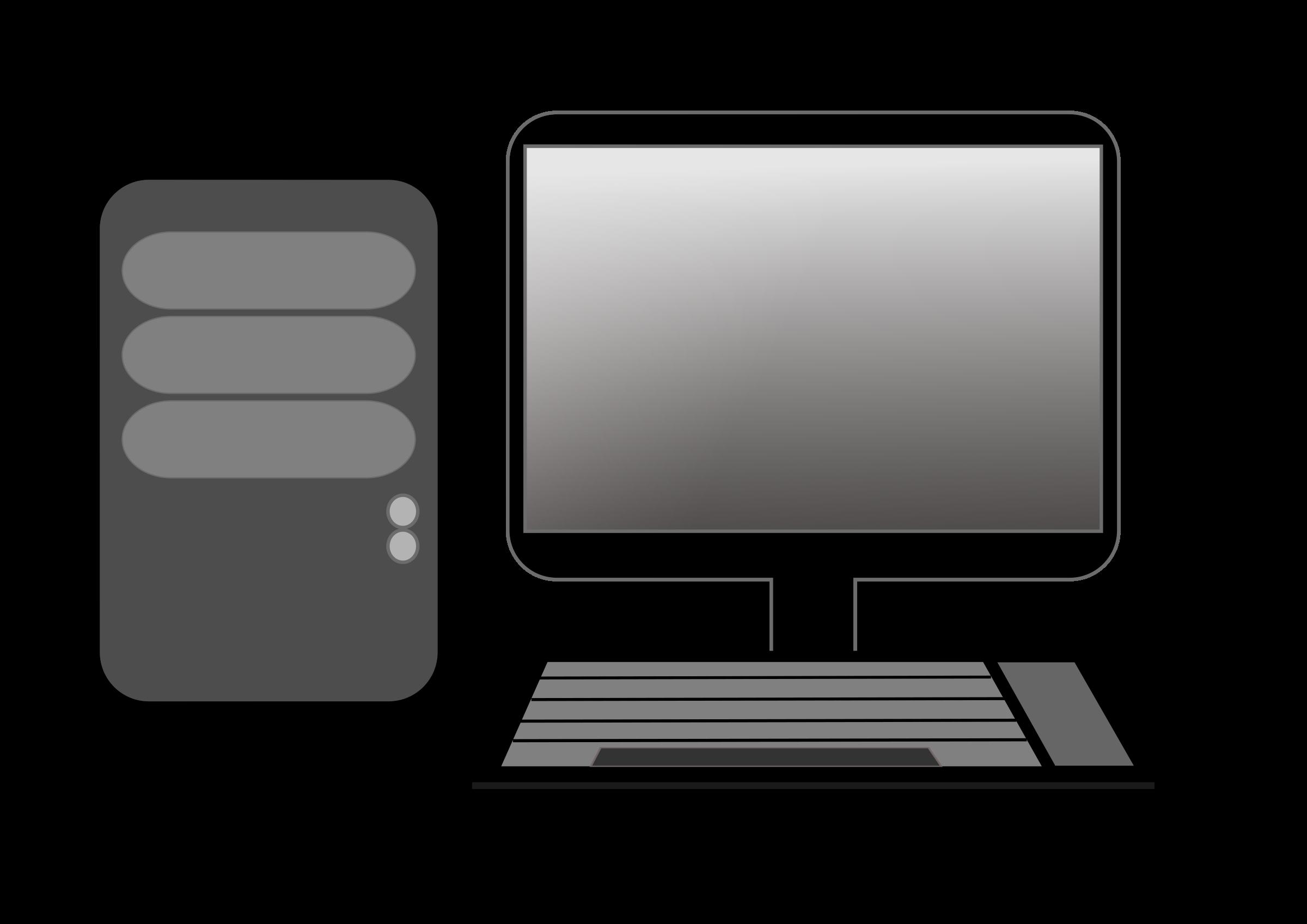 Laptop desktop computers personal. Pc clipart basic computer