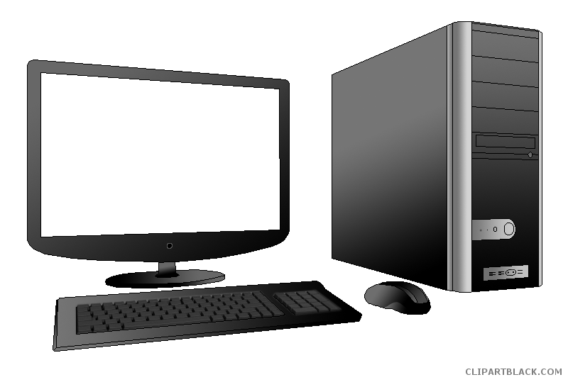 Clipartblack com tools free. Clipart computer desktop computer
