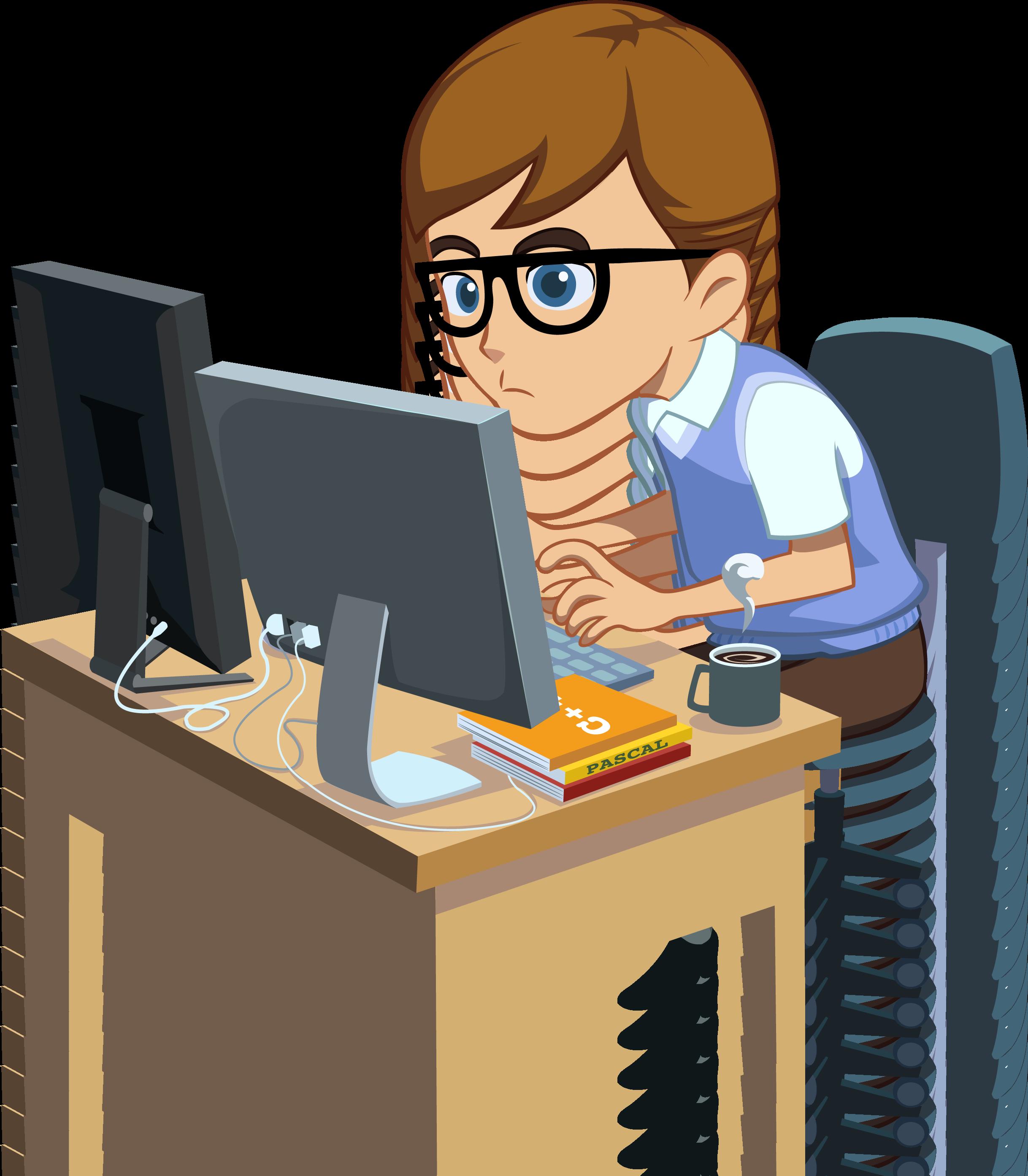 Programmer programming software clip. Clipart computer developer