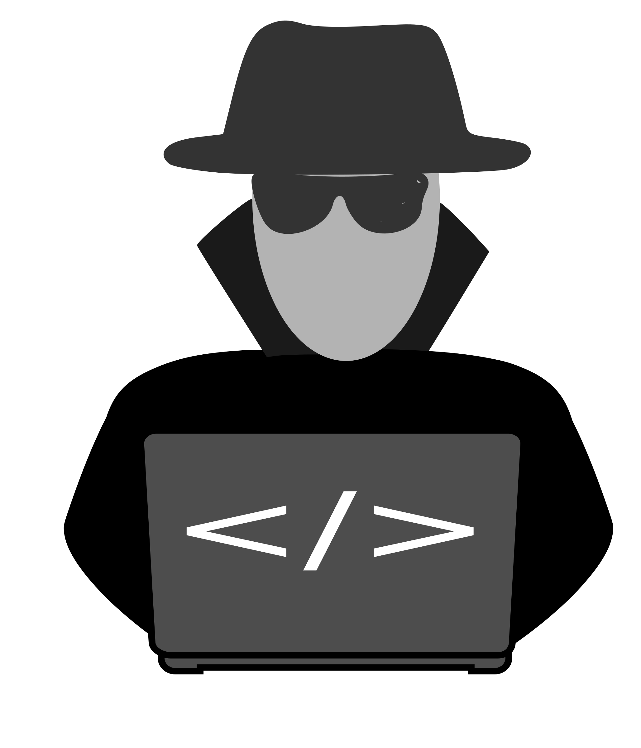 Spy behind computer big. Computers clipart email