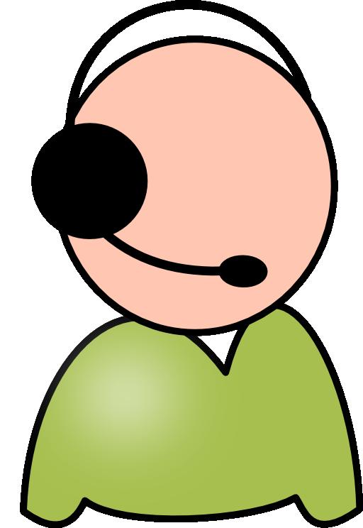 Servicedesk employee i royalty. Desk clipart head