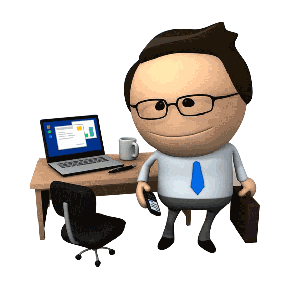 Clipart computer employee. Improved ways to estimate