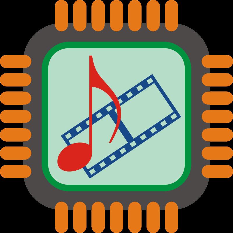 Clipart computer encoder. Multimedia chip medium image