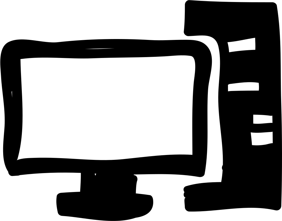 Clipart computer encoder. And monitor hand drawn