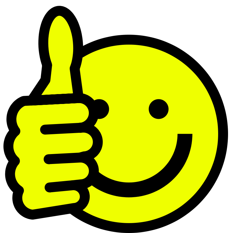 Face clip art thumbs. Hungry clipart smiley