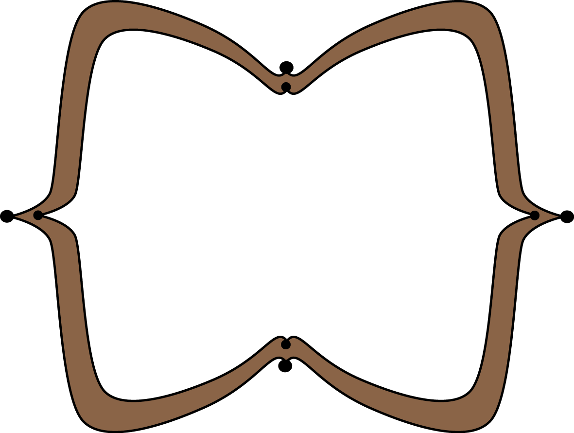 Clipart computer frame. Brown wide pointy free