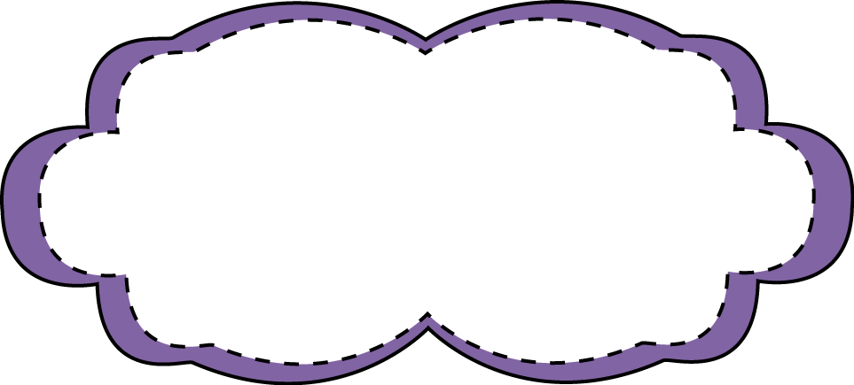 Purple stitched free clip. Frame clipart lavender