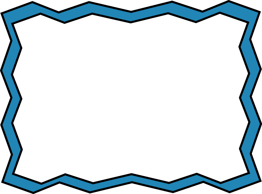 Clipart computer frame. Blue zig zag free