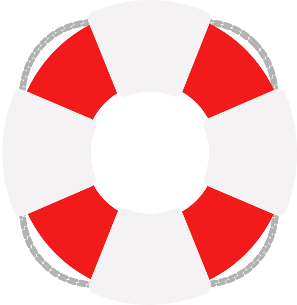 Lifesaver Red And Grey Clip Art at Clker