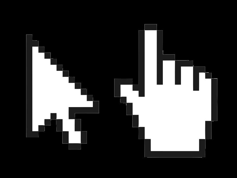 Pixel clipart computer mouse