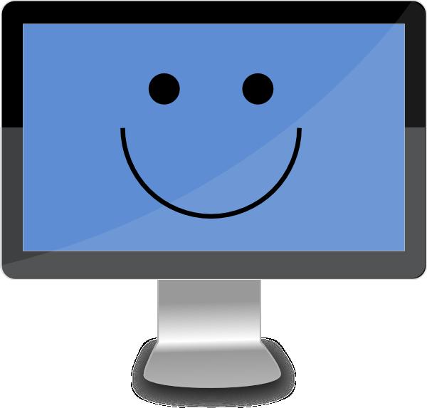 Clipart computer happy. Screen clip art at