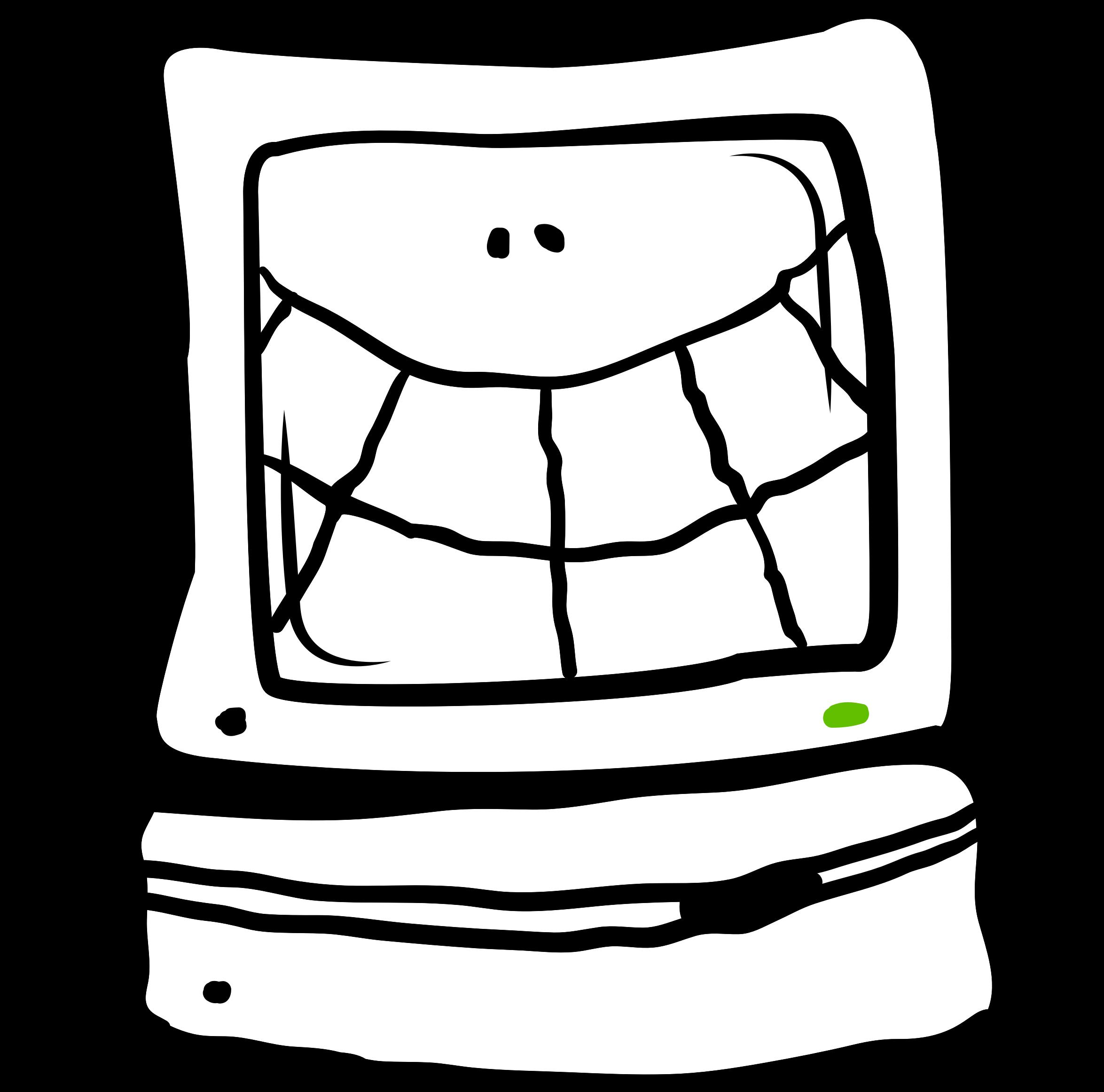 Mac big image png. Clipart computer happy