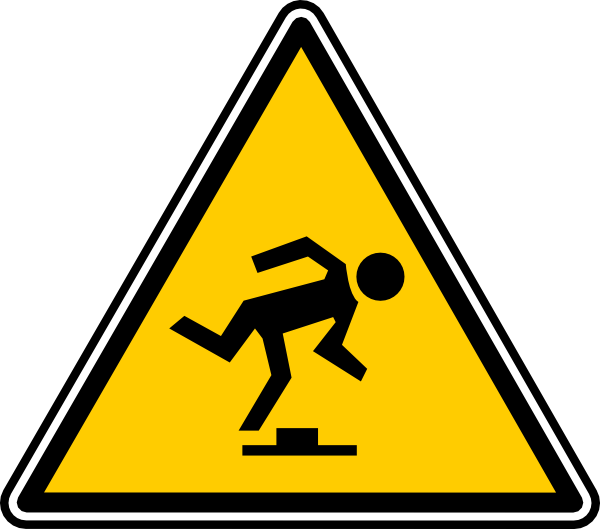 Clipart computer hazard. Tripping clip art at