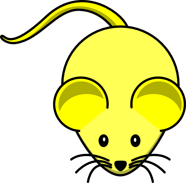 Mouse clipart science. Yellow clip art at