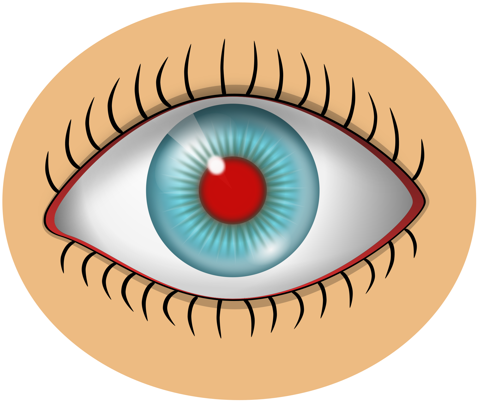 File red eye svg. People clipart itchy