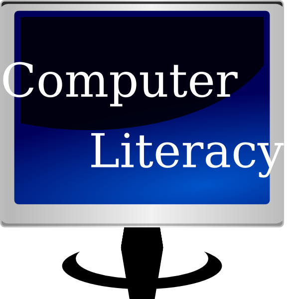 Literacy clip art at. Electric clipart computer