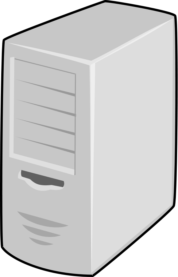 Pc clipart powerpoint. Server computer panda free