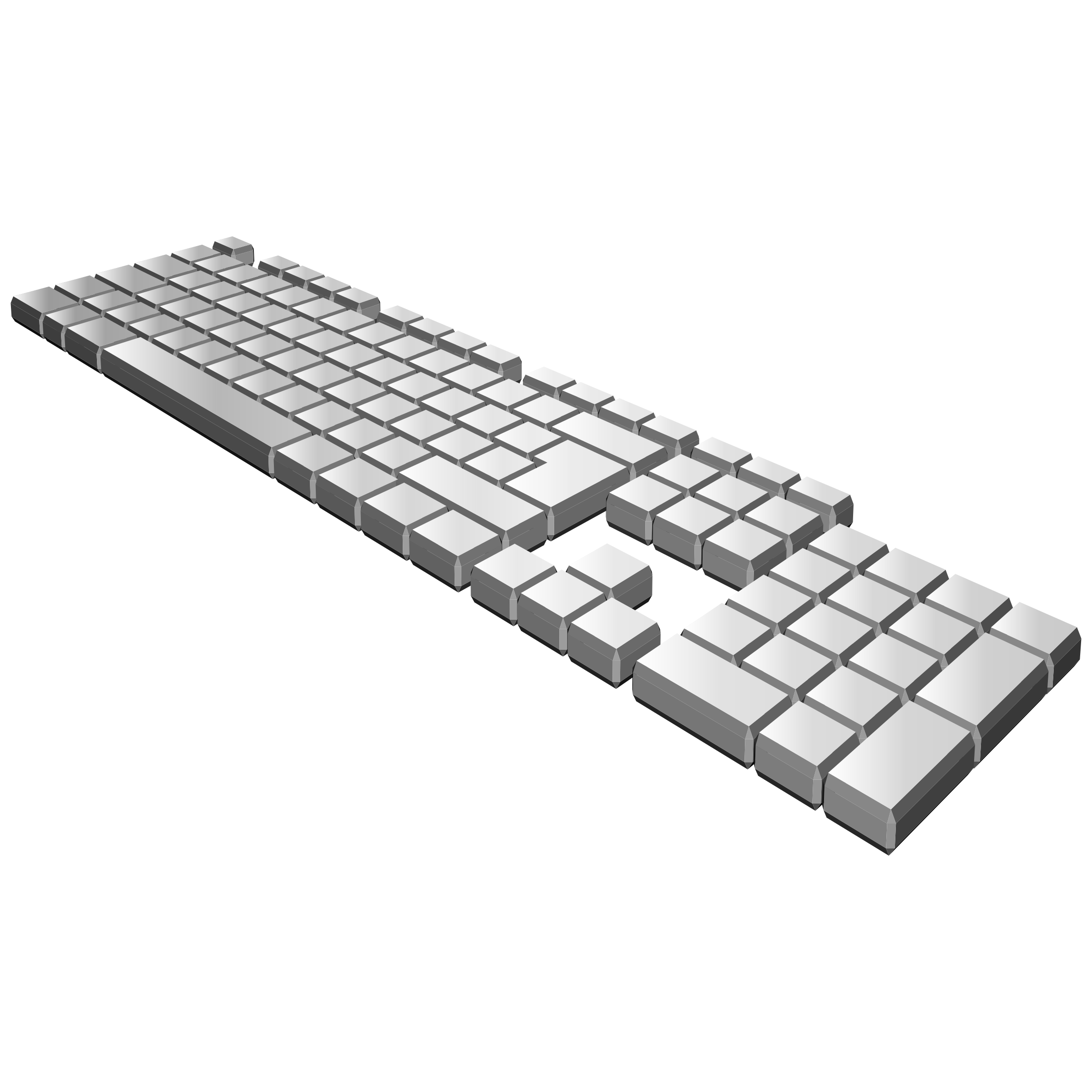 Clipart computer keyboard. Perspective