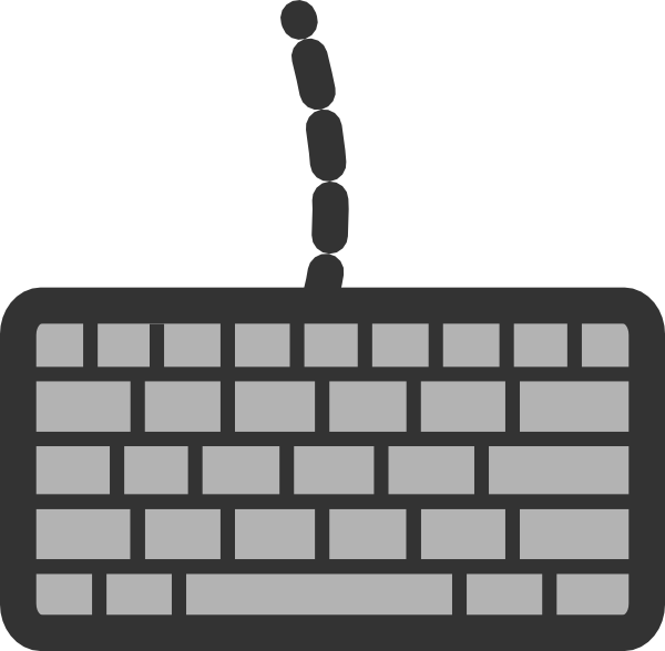 Clipart computer keyboard. With wire clip art