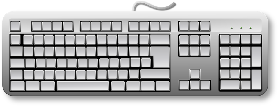 Public domain clip art. White clipart keyboard
