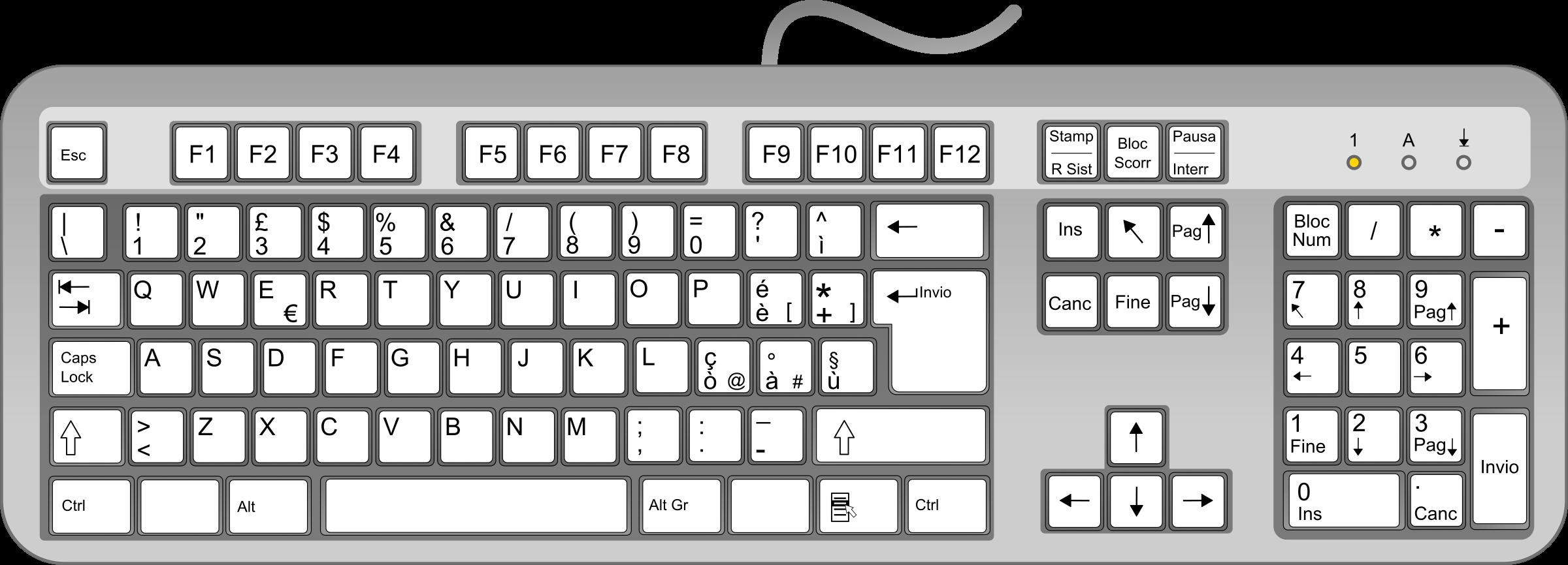 Ita big image png. White clipart keyboard