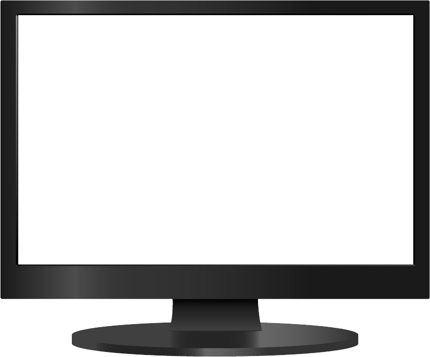 Flat screen monitor png. Clipart tv transparent background