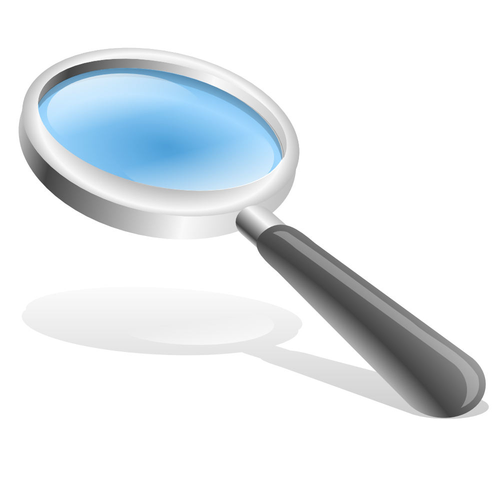People clipart magnifying glass. Onlinelabels clip art