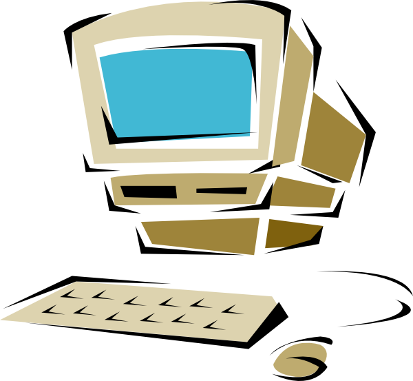 Computers clipart email. Old computer clip art