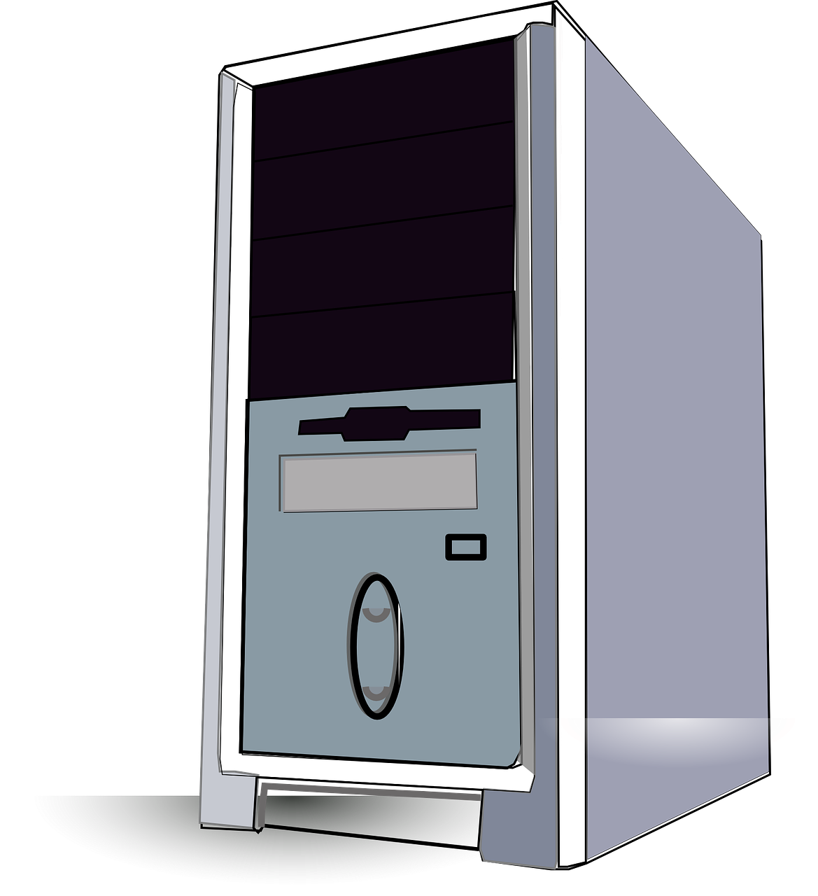 Pc clipart old computer. Desktop filedesktop tower vector