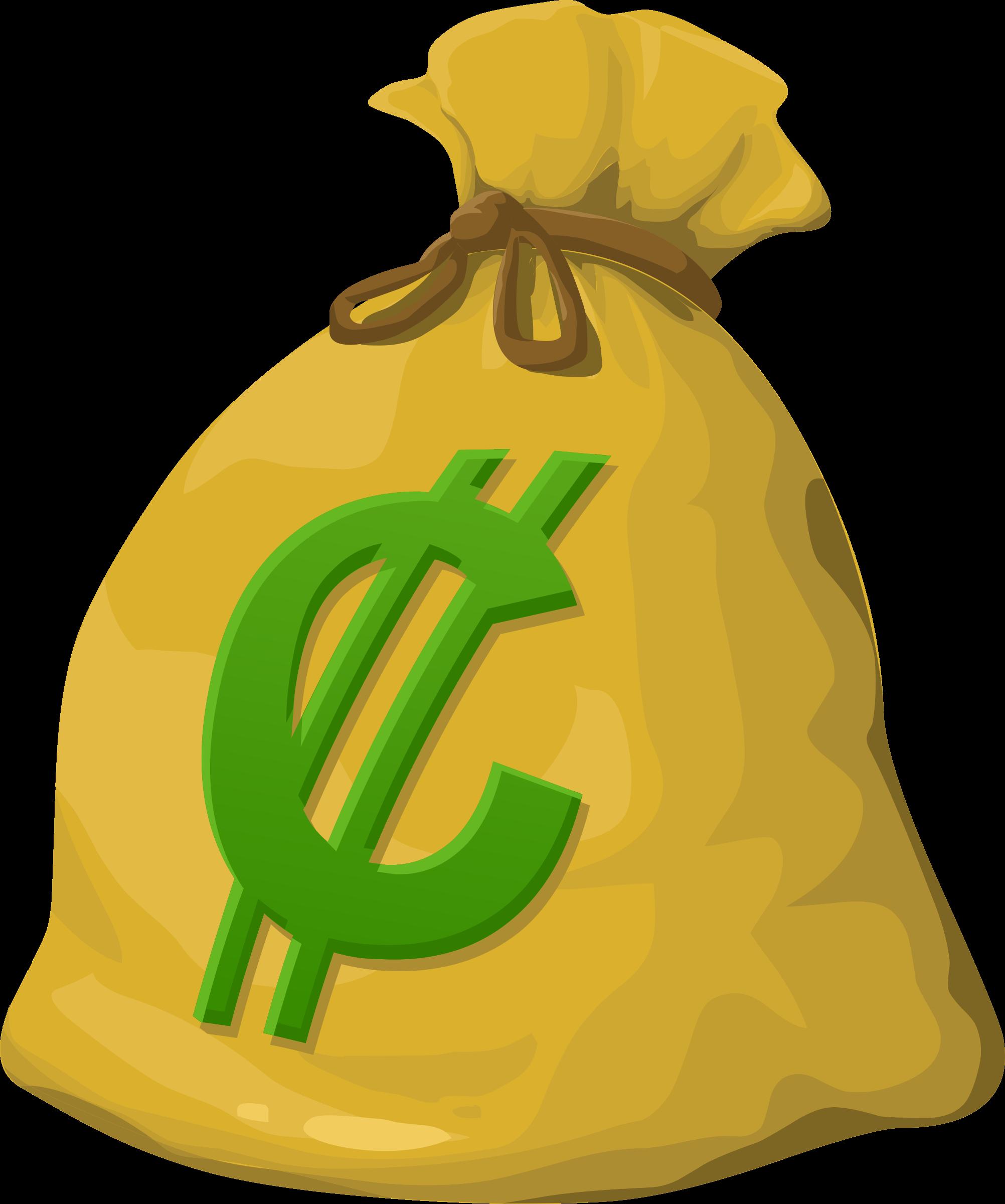 Misc money big image. R clipart gold bag