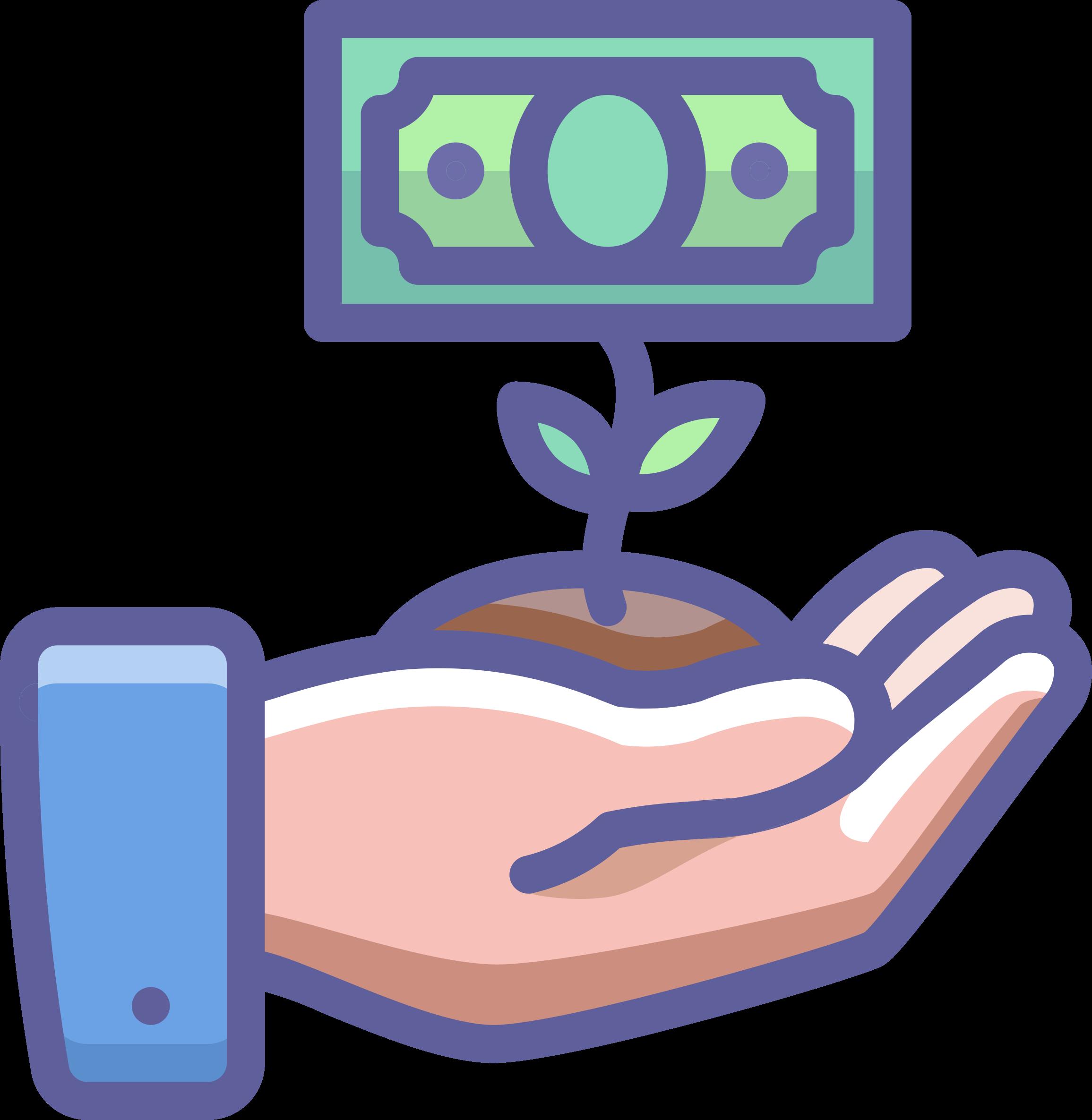 Computer clipart money. Grow ur big image