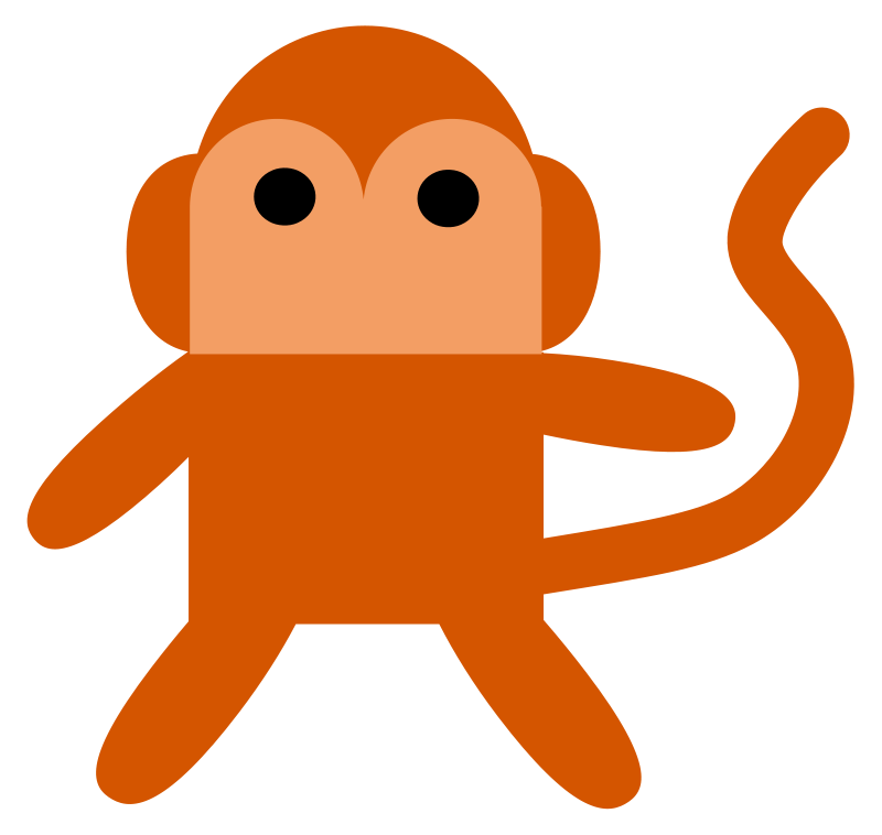 Animal pictures royalty free. Food clipart monkey