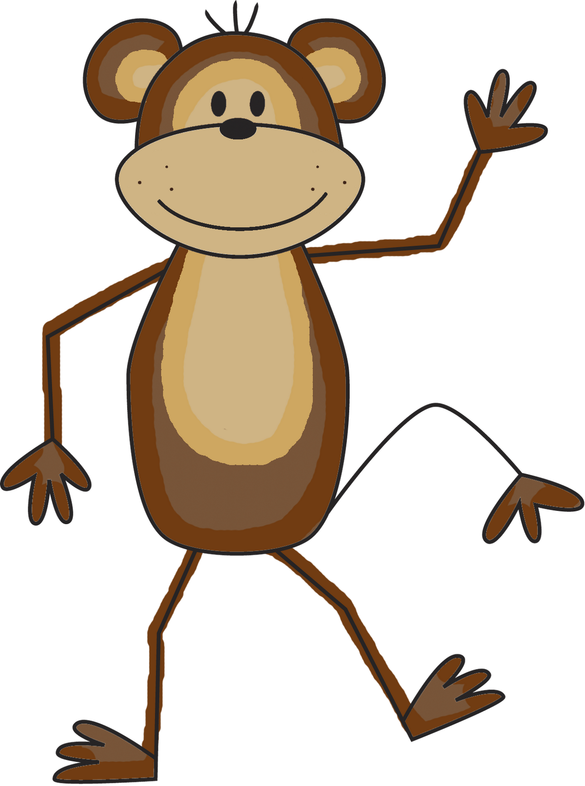 Monkey clipart pencil. Best png free icons