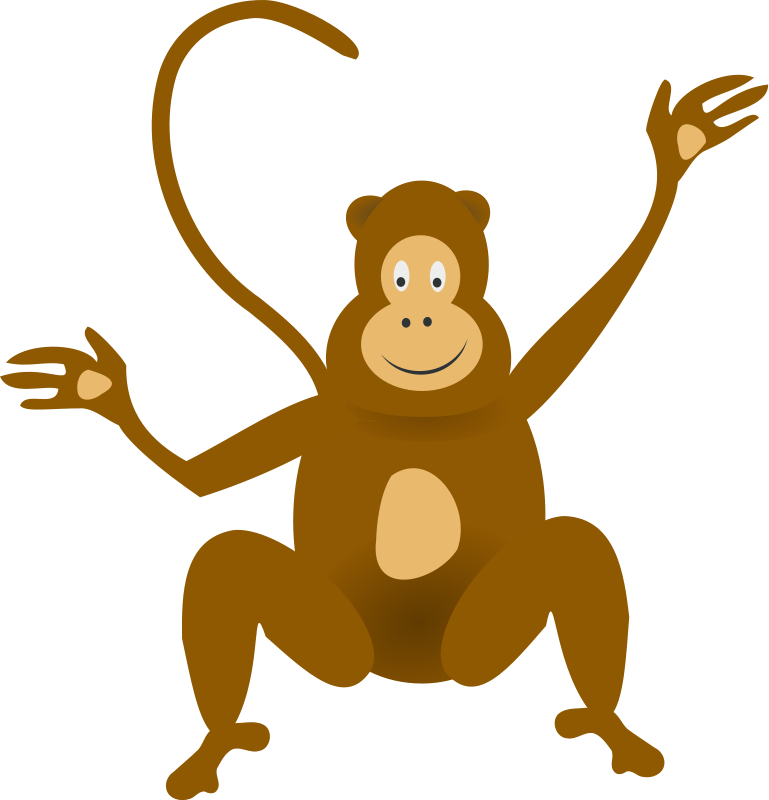 Animal pictures royalty free. Monkey clipart pig