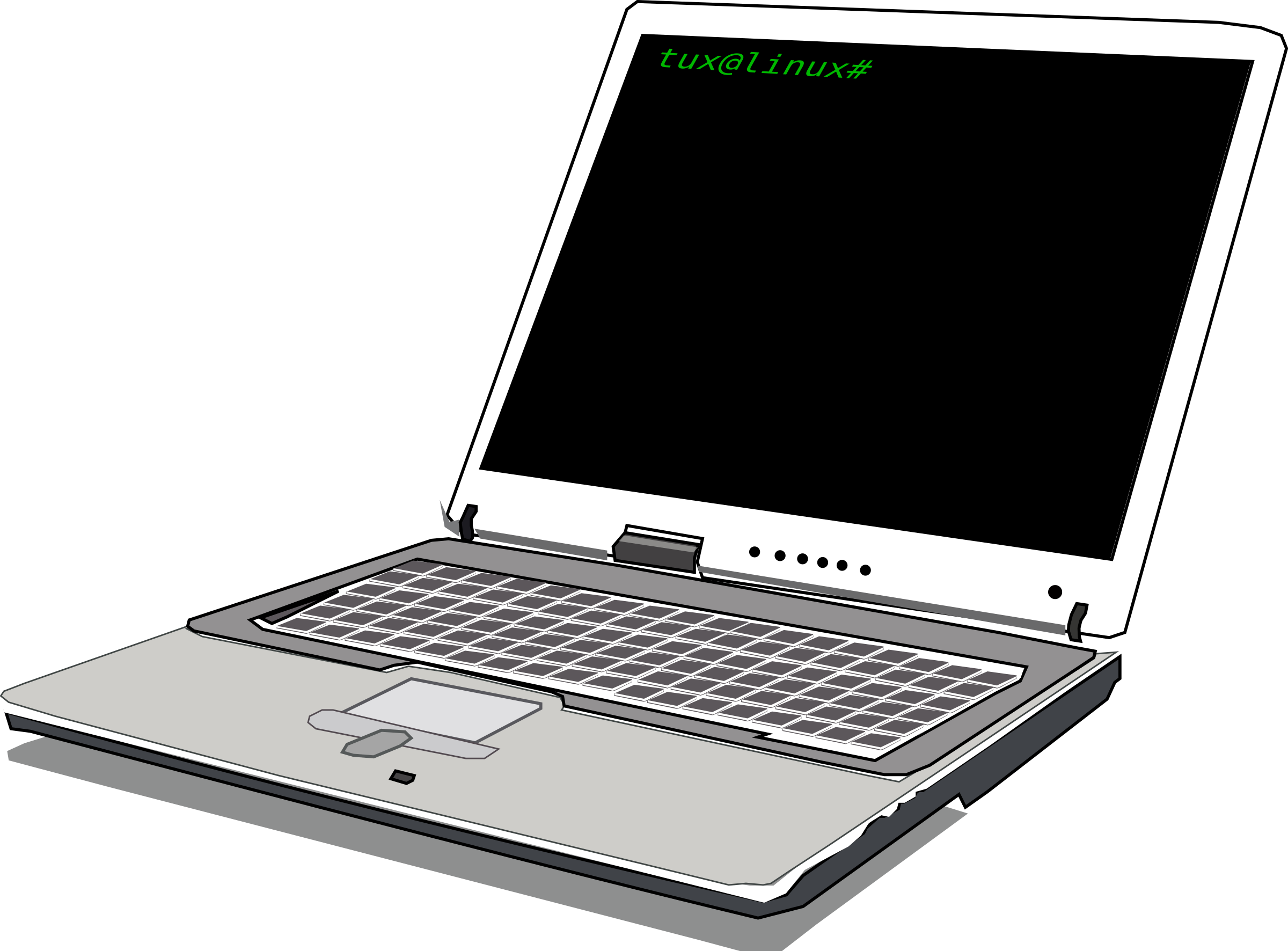 Notebook big image png. Electronics clipart laptop