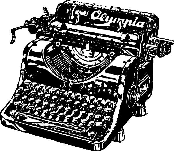 Fashioned typewriter . Phone clipart old fashion