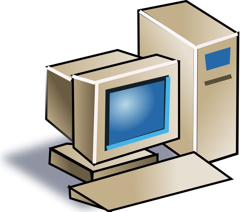 Old computer clipart
