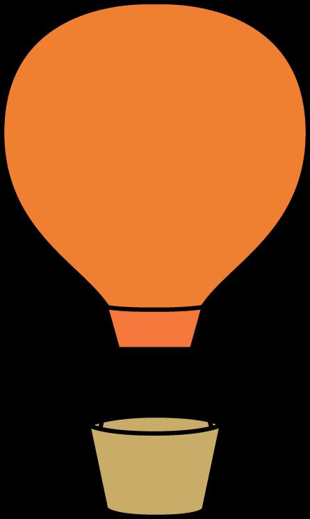 Orange clip art image. Free clipart hot air balloon