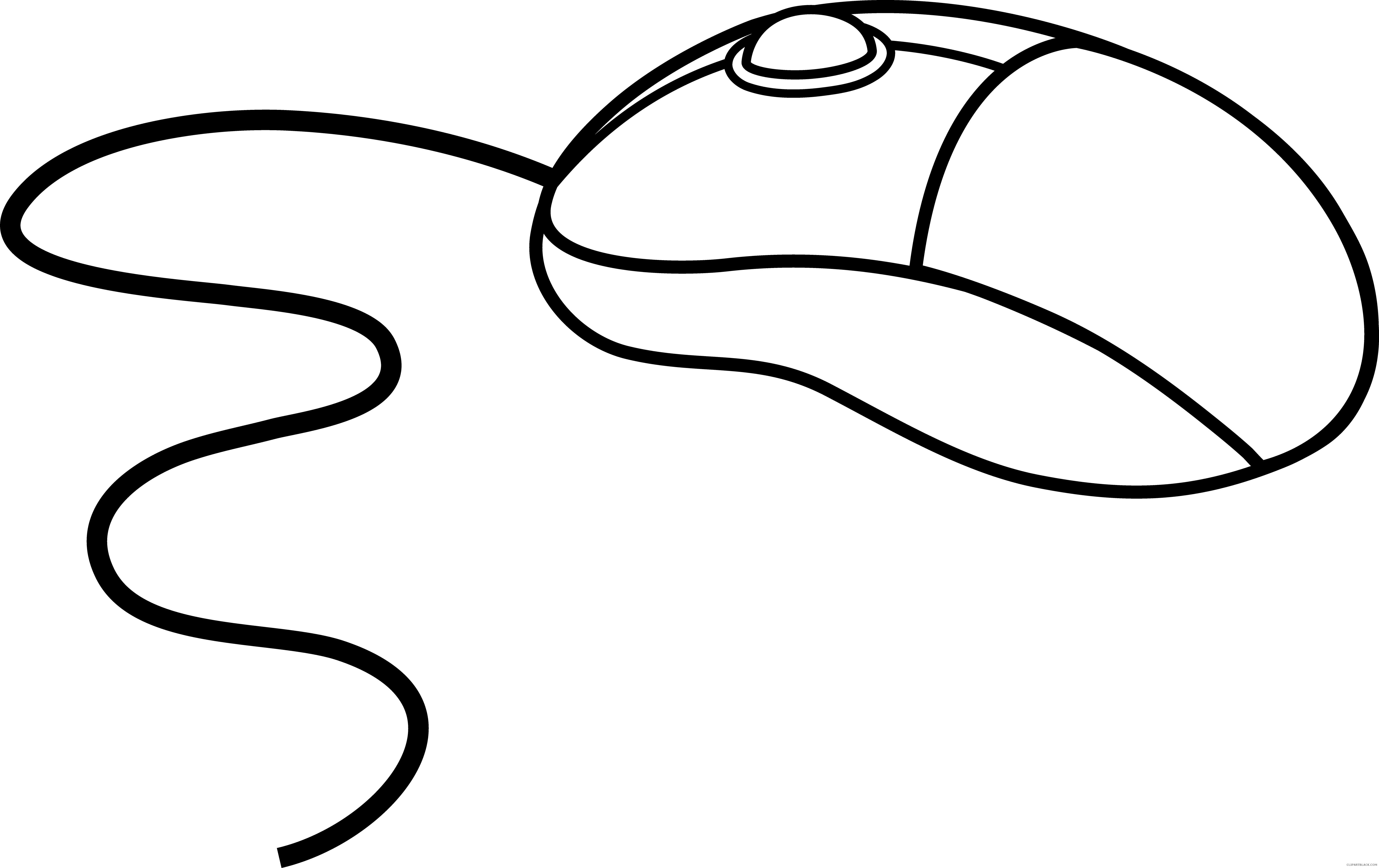Mouse clipartblack com tools. Clipart computer outline