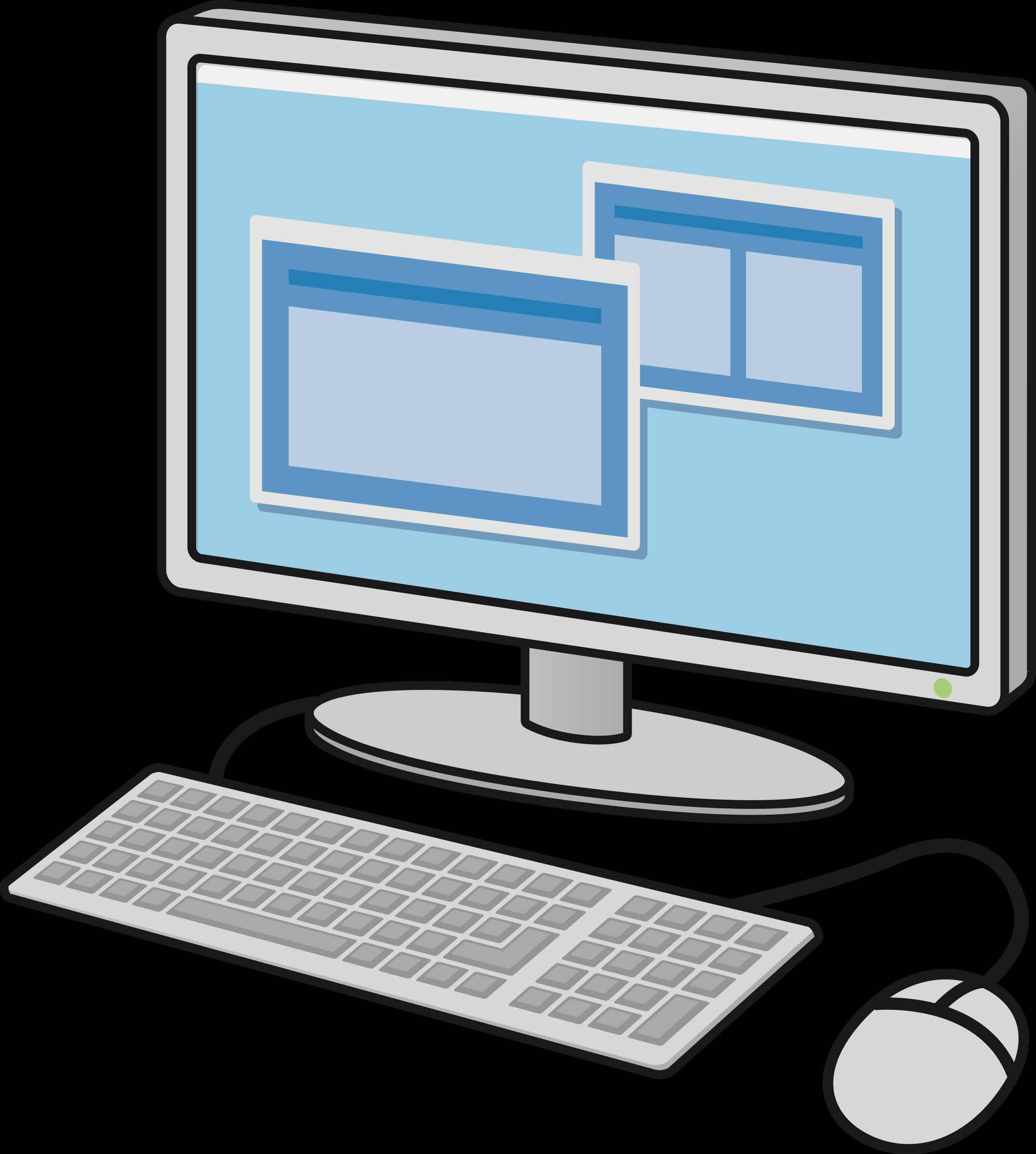 Desktop big image png. Computer clipart pdf