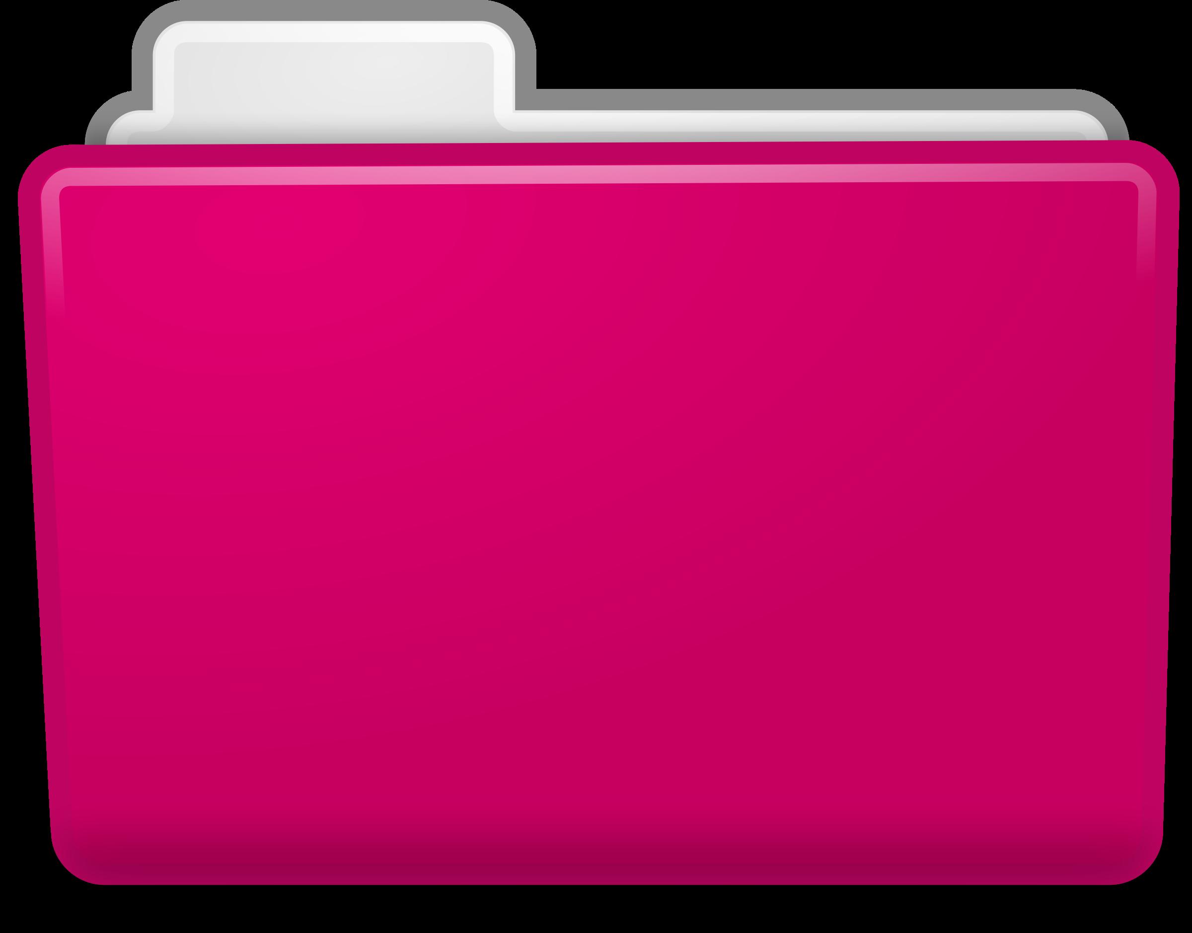 folder clipart pink