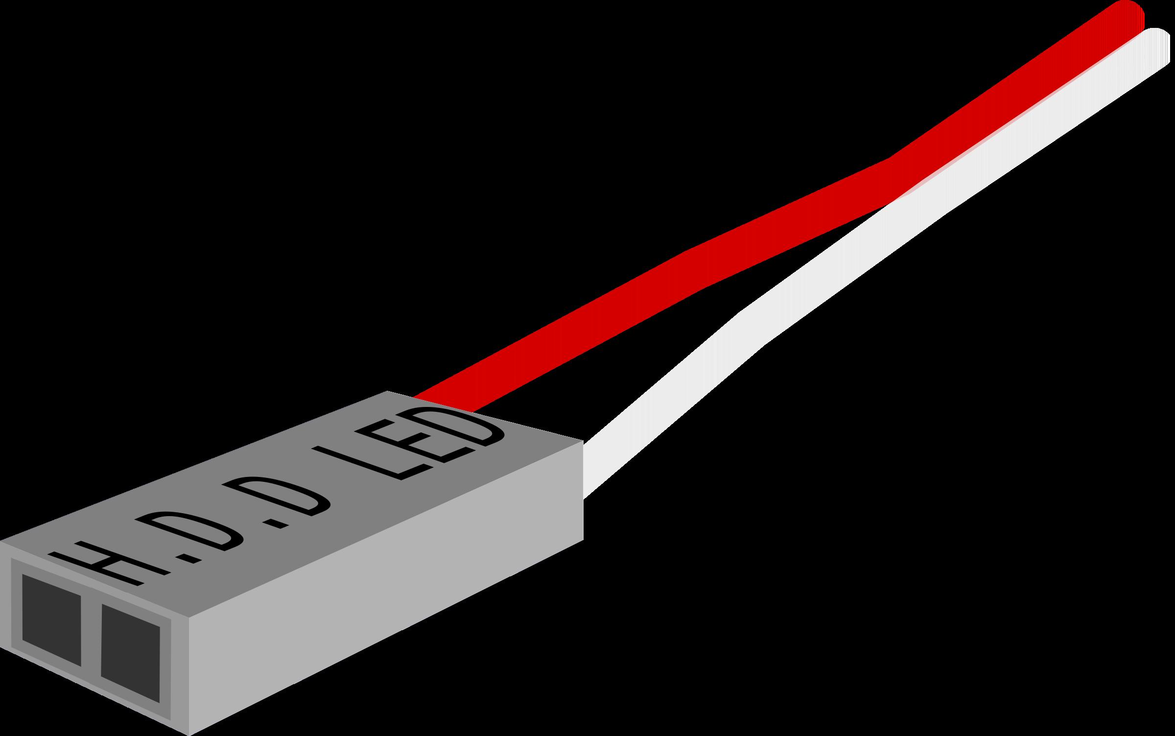 Electronics clipart network cable. H d led plug