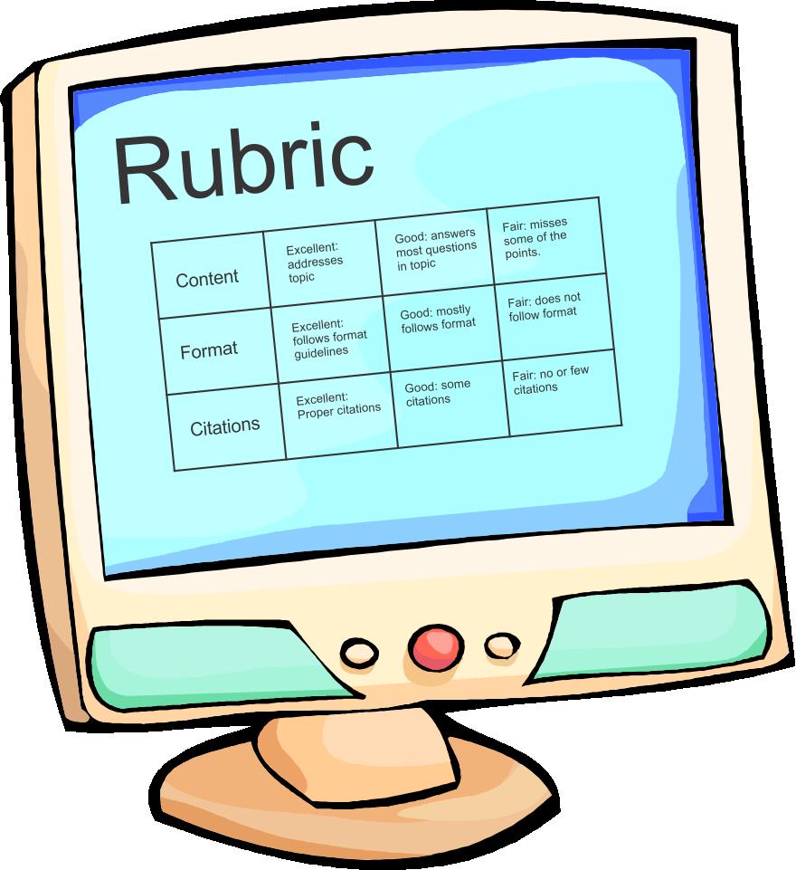 Computer clipart practice. Create a rubric blueline